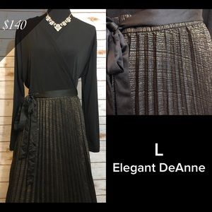 Special event pleated gown